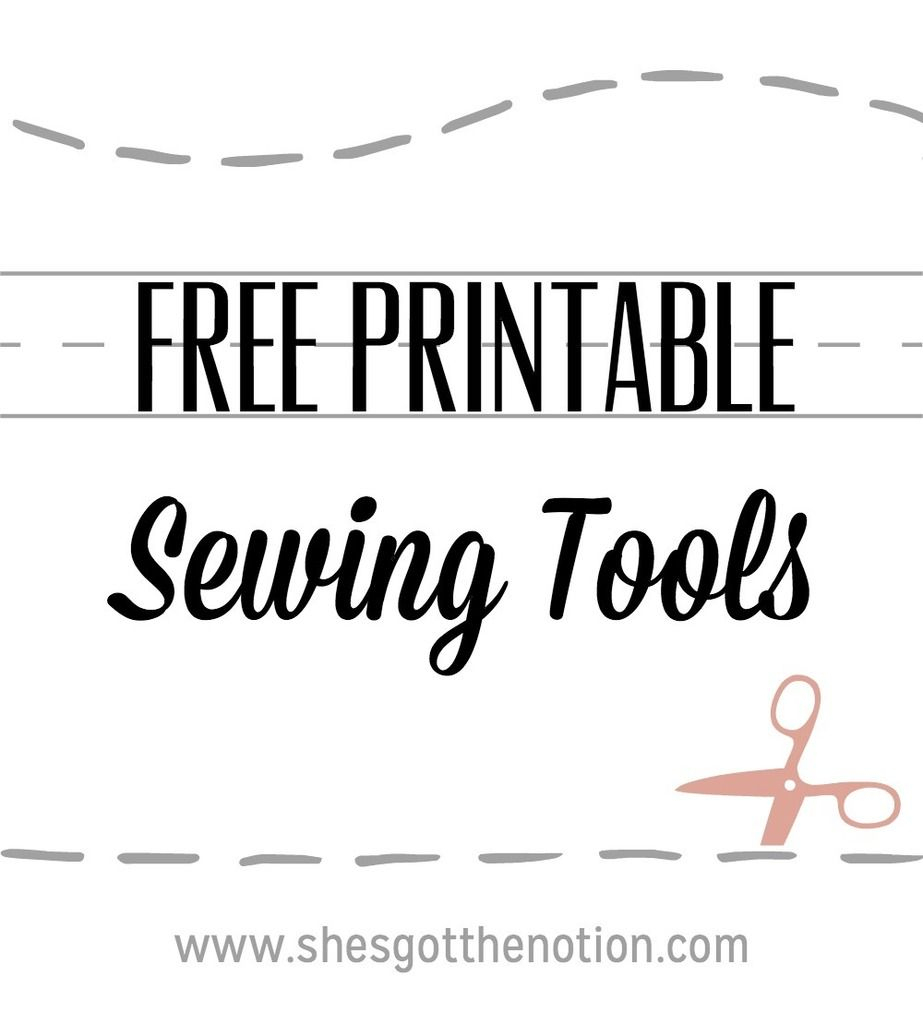 10 For Tuesday: Printable Sewing Tools | Sewing Tools