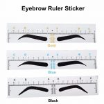 100Pc Disposable Microblading Eyebrow Ruler Sticker Permanent Makeup  Accessories Supplies Eyebrow Stencil Tattoo Measure Tools
