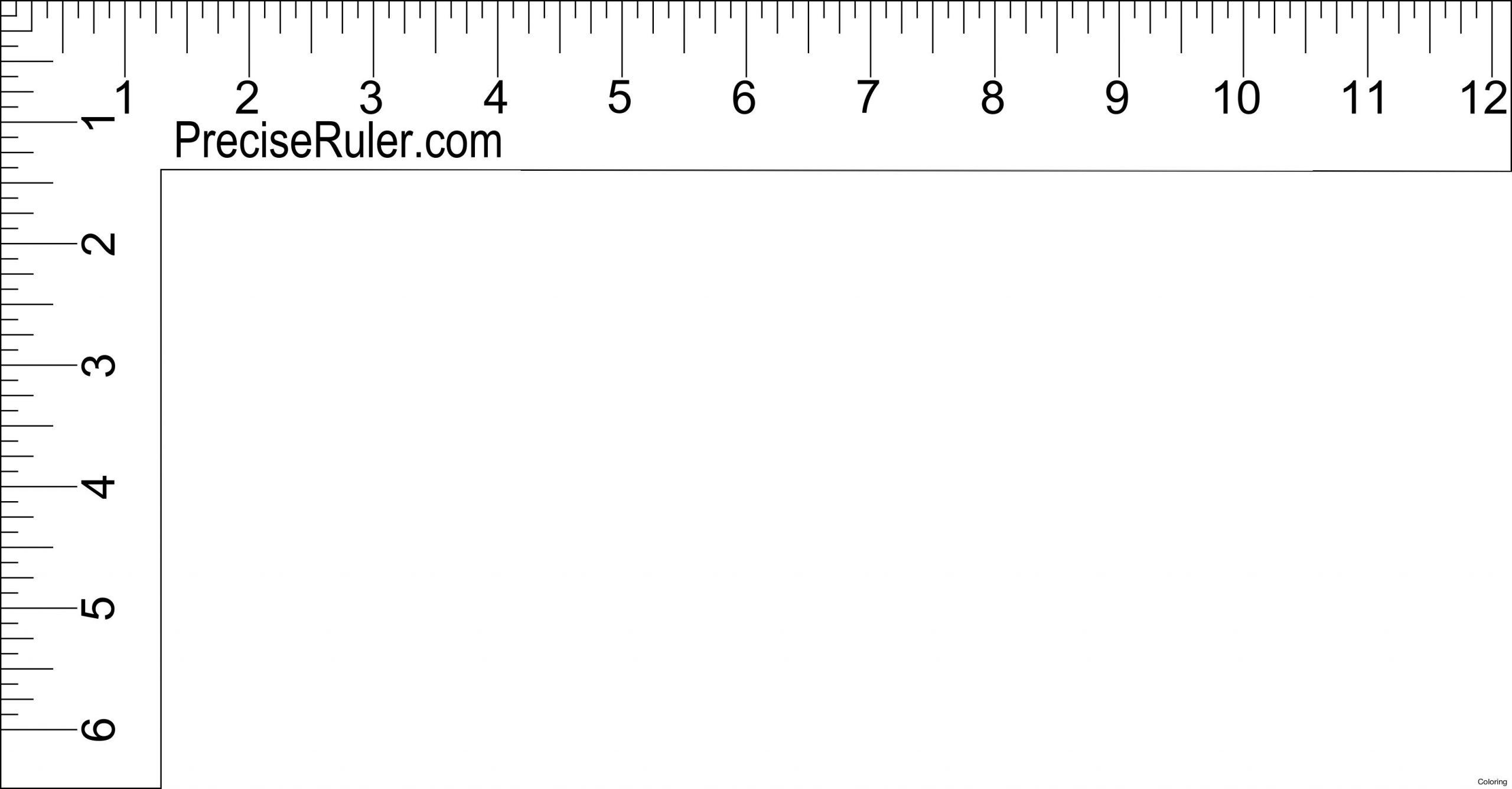 12 Inch Ruler Clipart Black And White   Ruler, Inch Ruler