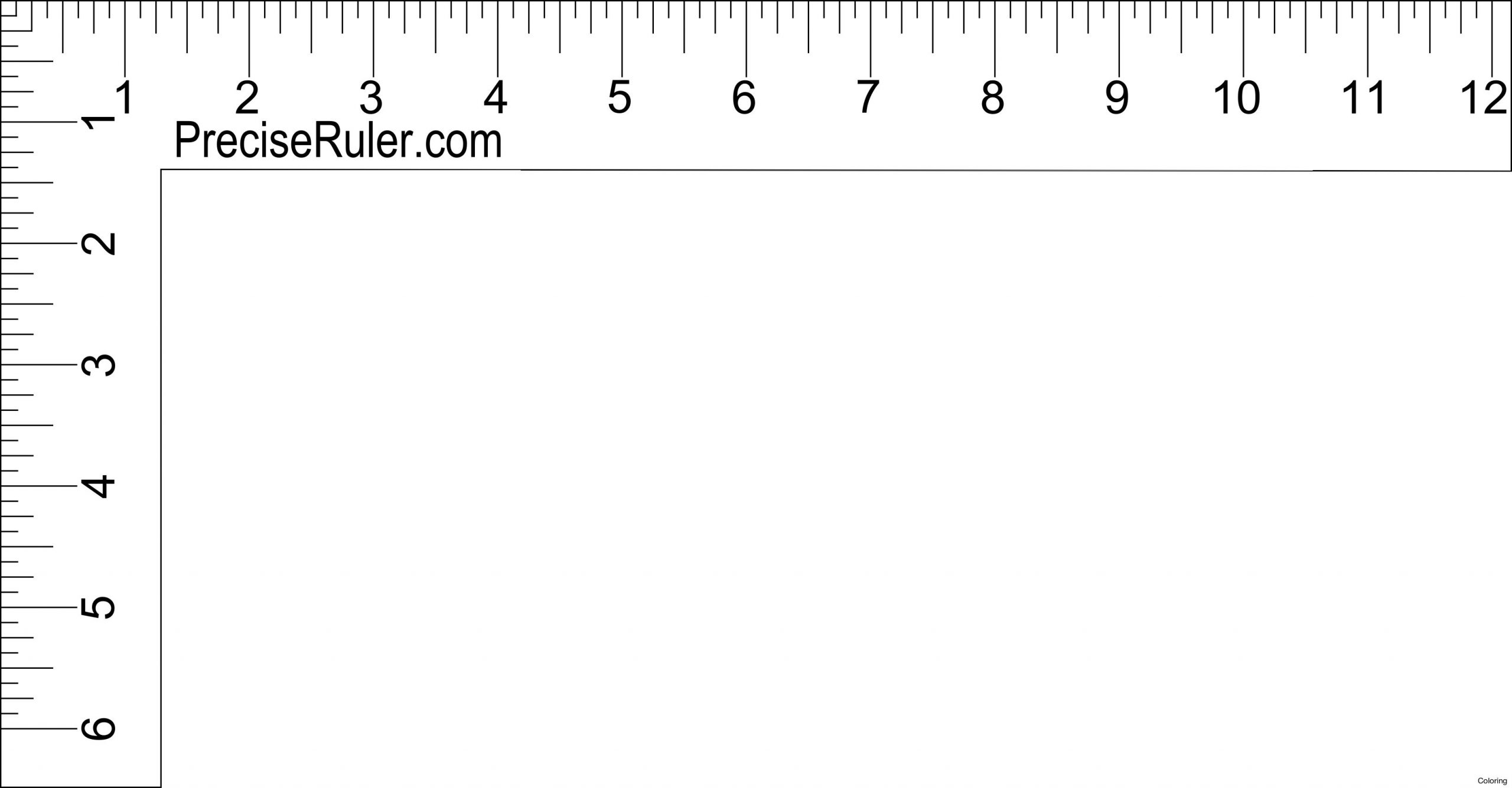 12 Inch Ruler Clipart Black And White | Ruler, Inch Ruler
