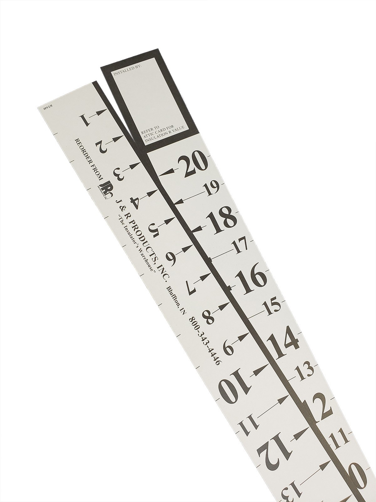 "20"" R-Sticks - Attic Measuring Rulers - Pack Of 100"
