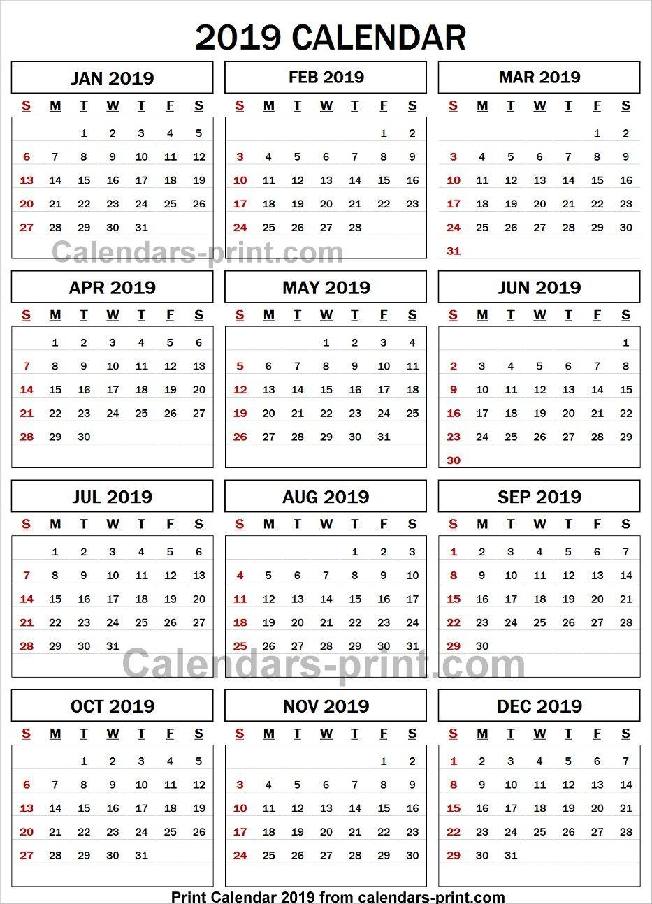 2019 Calendar Spreadsheet | Calendar, Spreadsheet