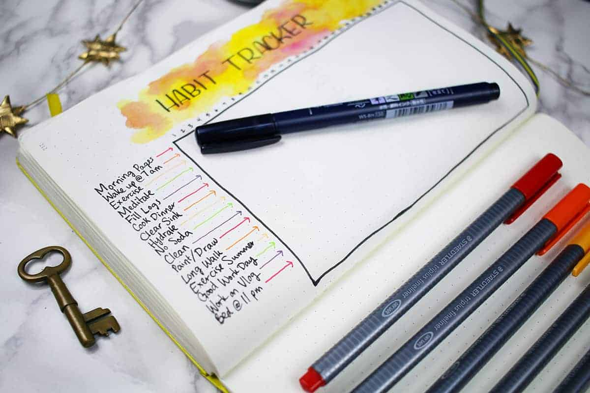 40 Things To Track In Your Bullet Journal Habit Tracker +