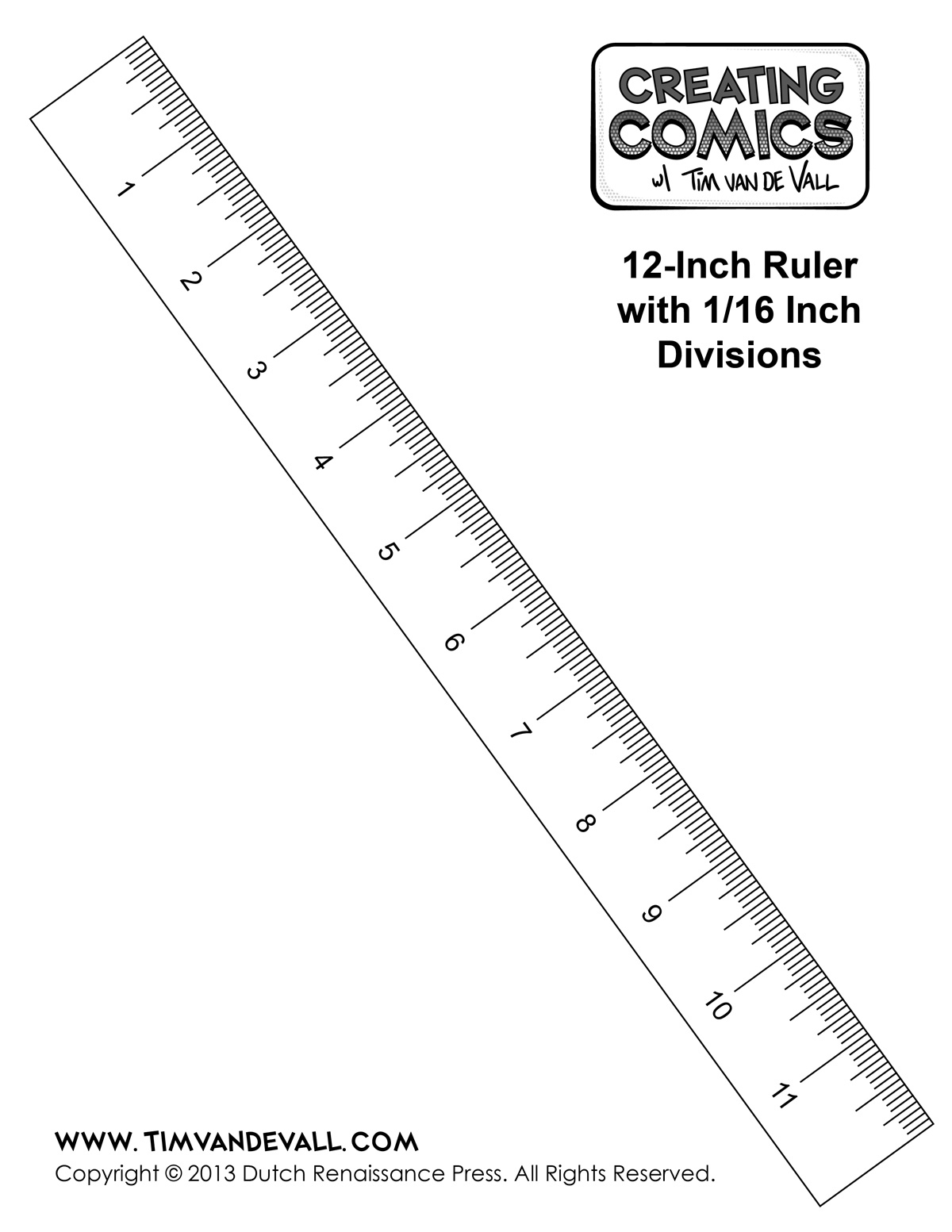 6 Inch Ruler Template
