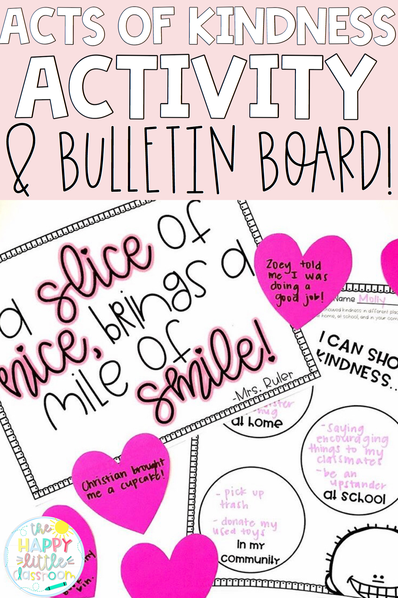 Acts Of Kindness Bulletin Board And Activities | Kindness