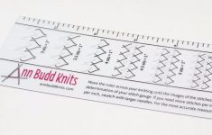 Printable Knitting Gauge Ruler