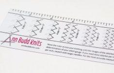 Ann Budd Knits Stitch Gauge Ruler, Ready To Ship, Best