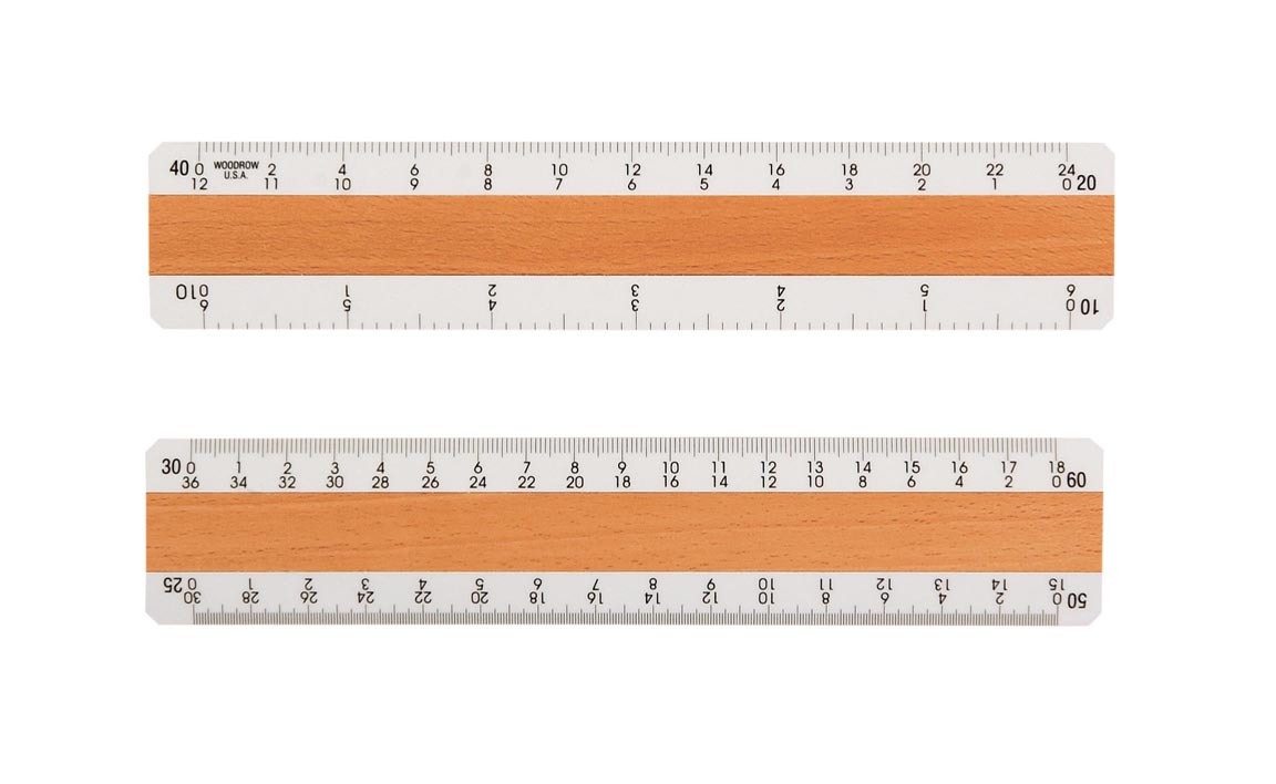 Architectural Rulers Imprinted Architect Rulers And