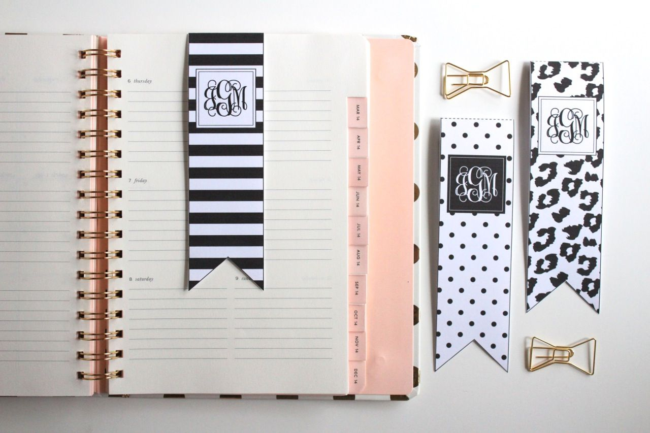 Black And White Bookmarks | Free Printable Bookmarks
