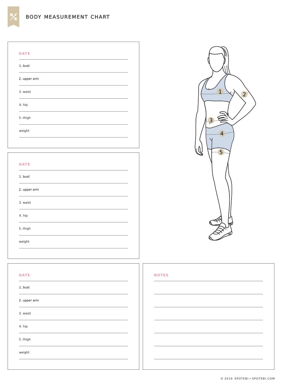 Body Measurement Chart Printable | Room Surf