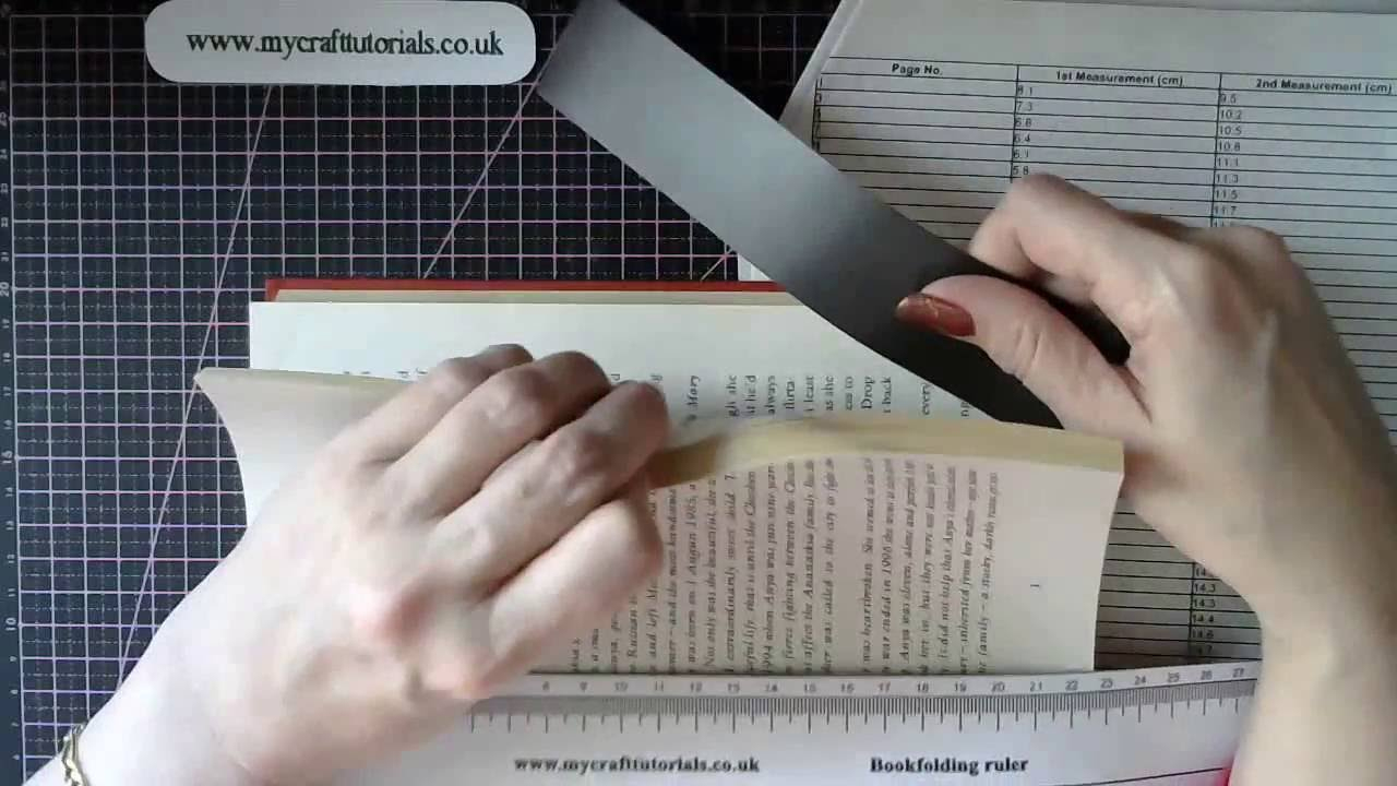 Book Folding - How To Use A Magnetic Ruler