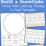 Build A Snowflake: Winter Shape Math Activity And Free