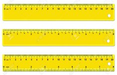 Printable Yellow Ruler Inches