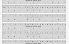Free Printable Decimeter Ruler