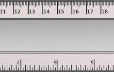 Printable Blue Cm Ruler