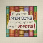 Cross Stitch Pattern   Reading Cross Stitch   Books Cross