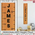 Details About Height Ruler Giant Wooden Print Personalised Height Chart  Wall Stickers Decal Uk