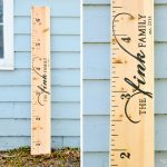 Diy Ruler Growth Chart Tutorial (With Printable!)   Fink