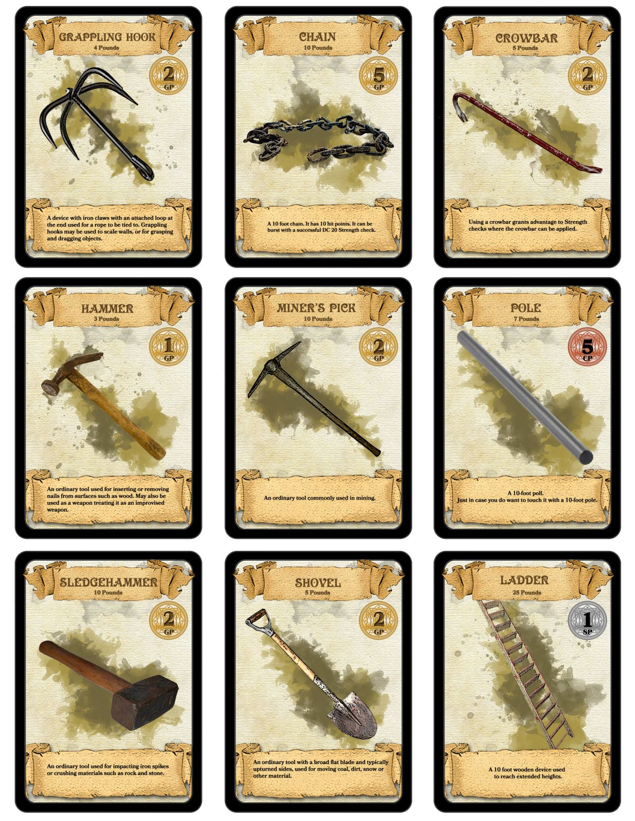 Dm Paul Weber — Over 300 Downloadable & Printable D&d Cards