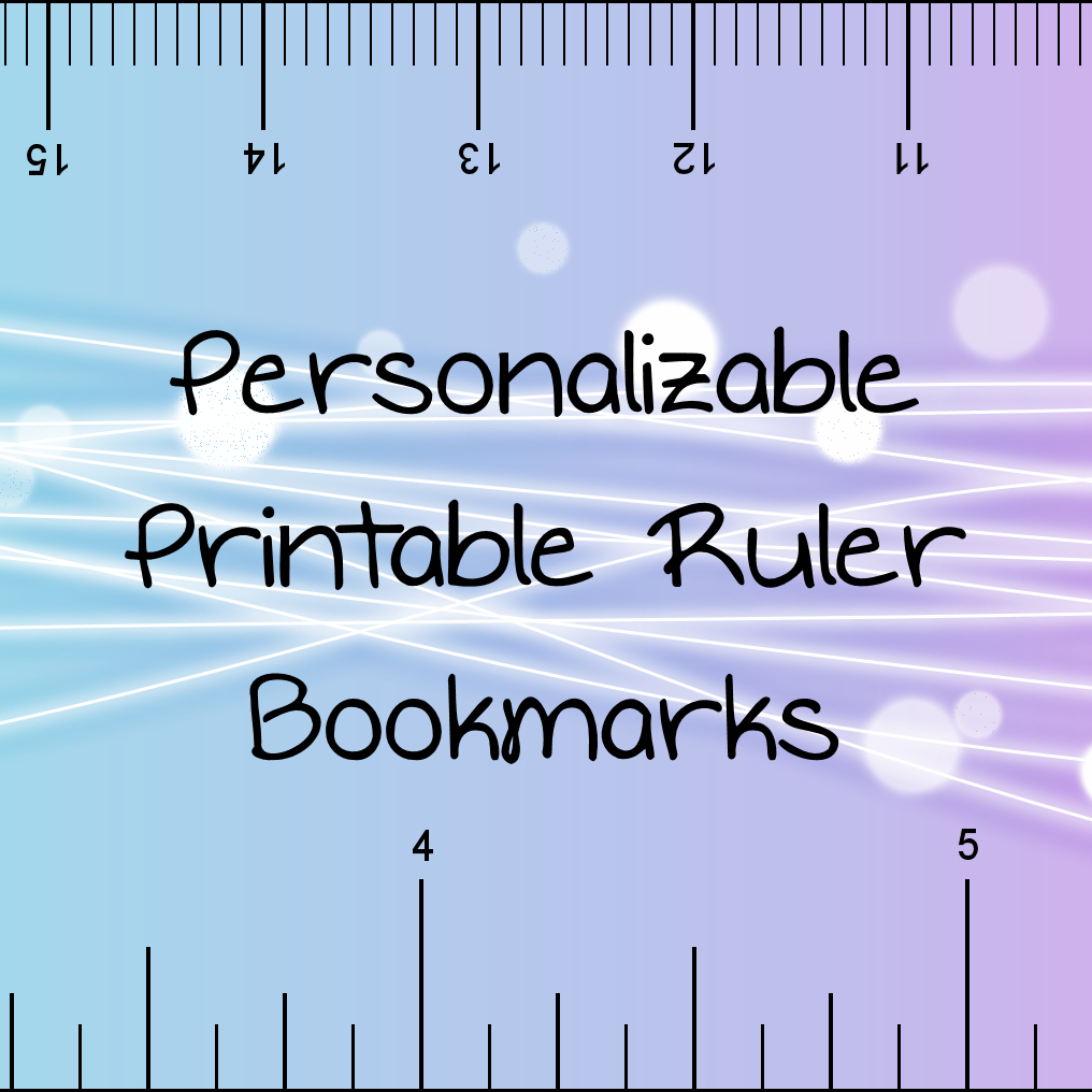 Don't Eat The Paste: Printable Rulers- Pdf Format