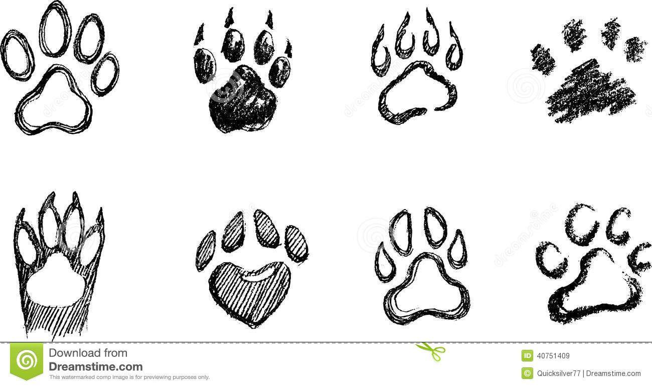 Draw A Dog Paw Print How To Draw A Paw Print (Simple