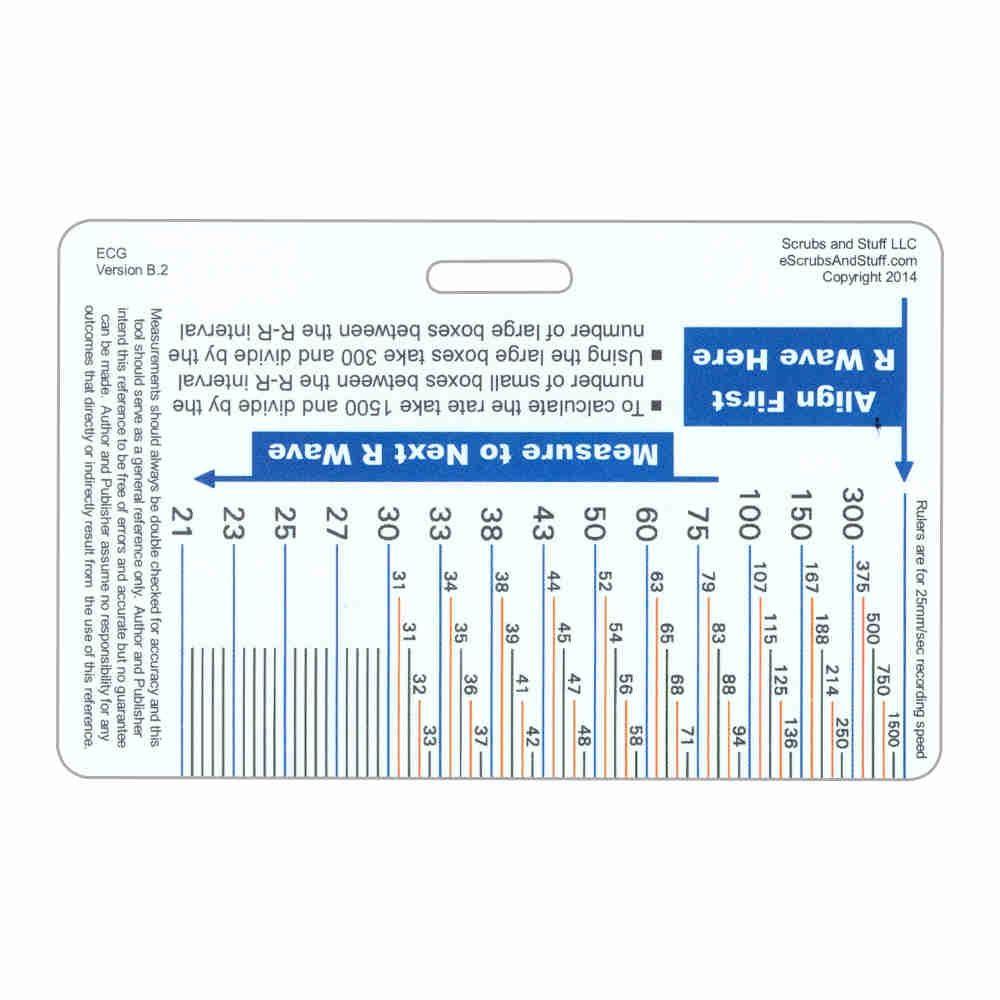 Ecg Ruler & Diagram Horizontal Badge Card | Cards, Ruler