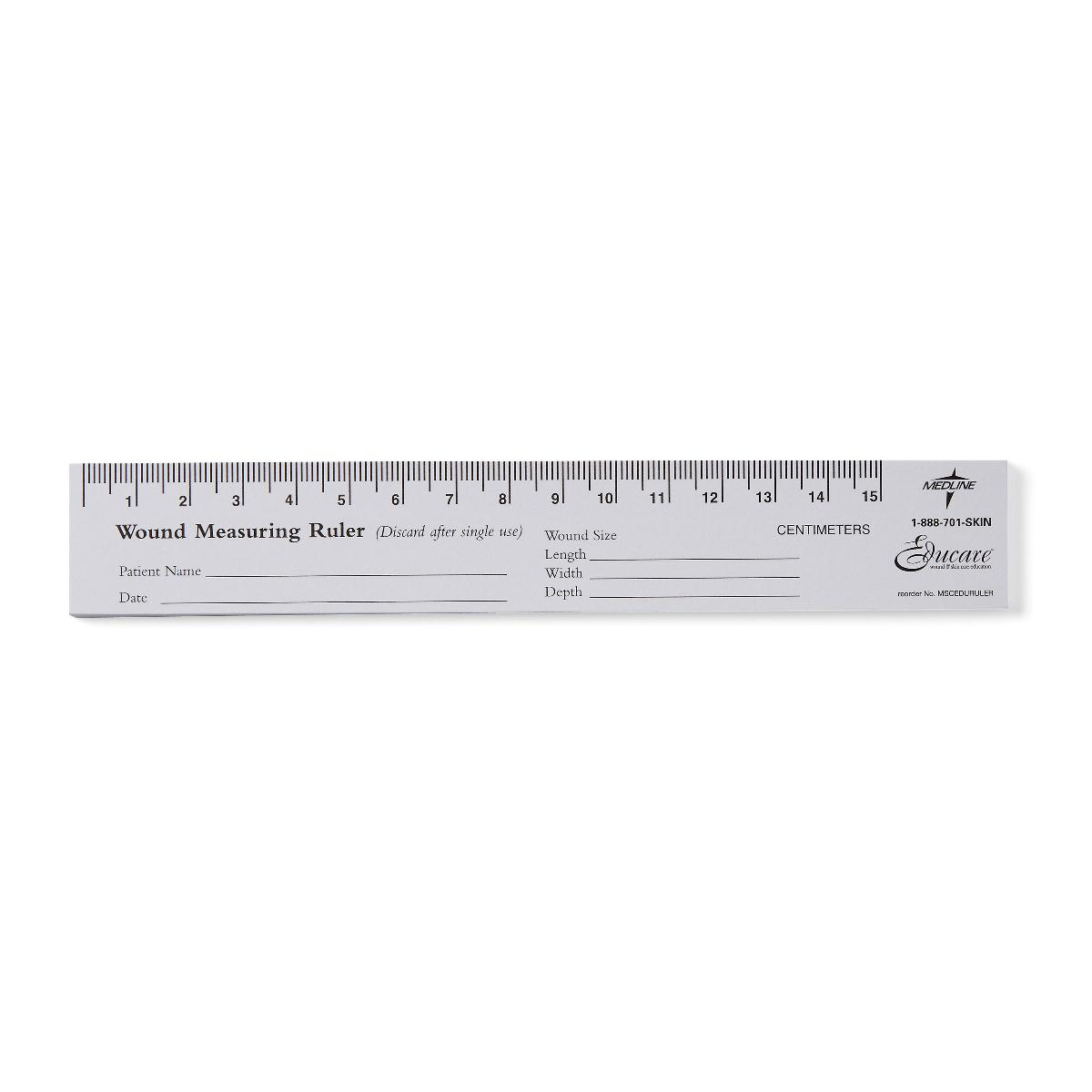 Educare Wound Ruler Paper 25/pads « Medical Mart
