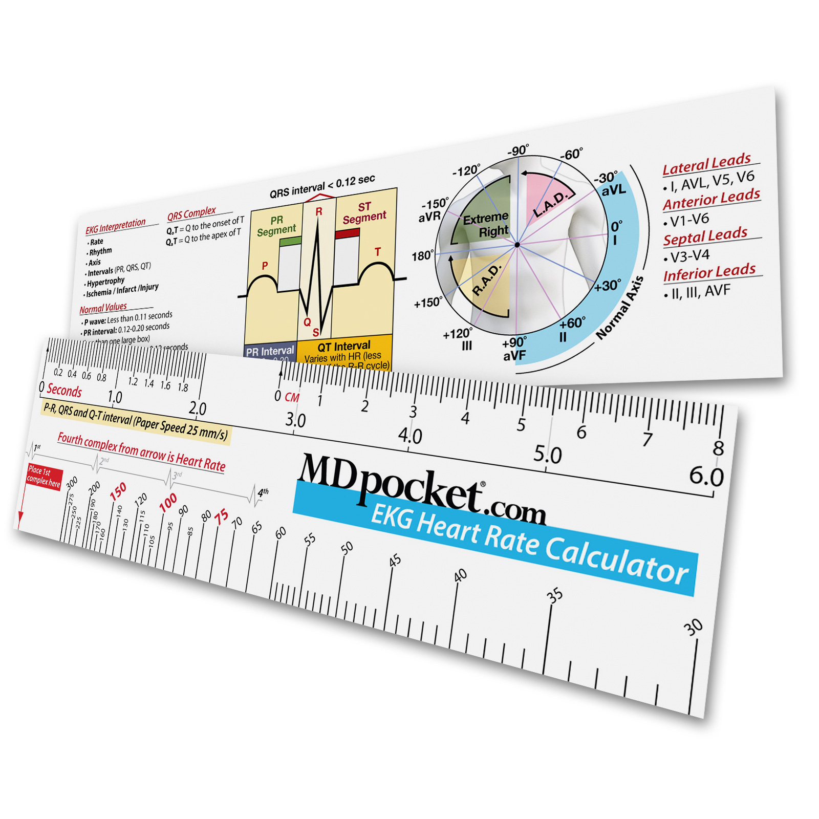 Ekg Heart Rate Calculator Ruler