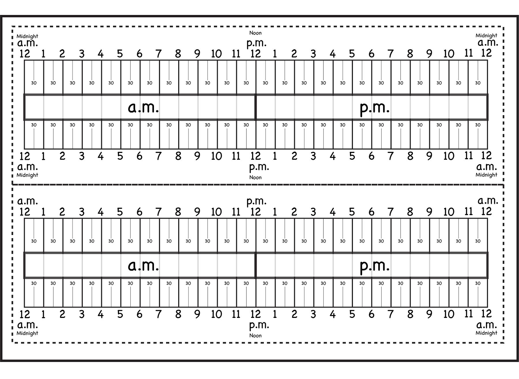 Elapsed Time Ruler | Printable Shelter