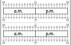 Elapsed Time Ruler Worksheet – 2 Rulers On 1 Worksheet