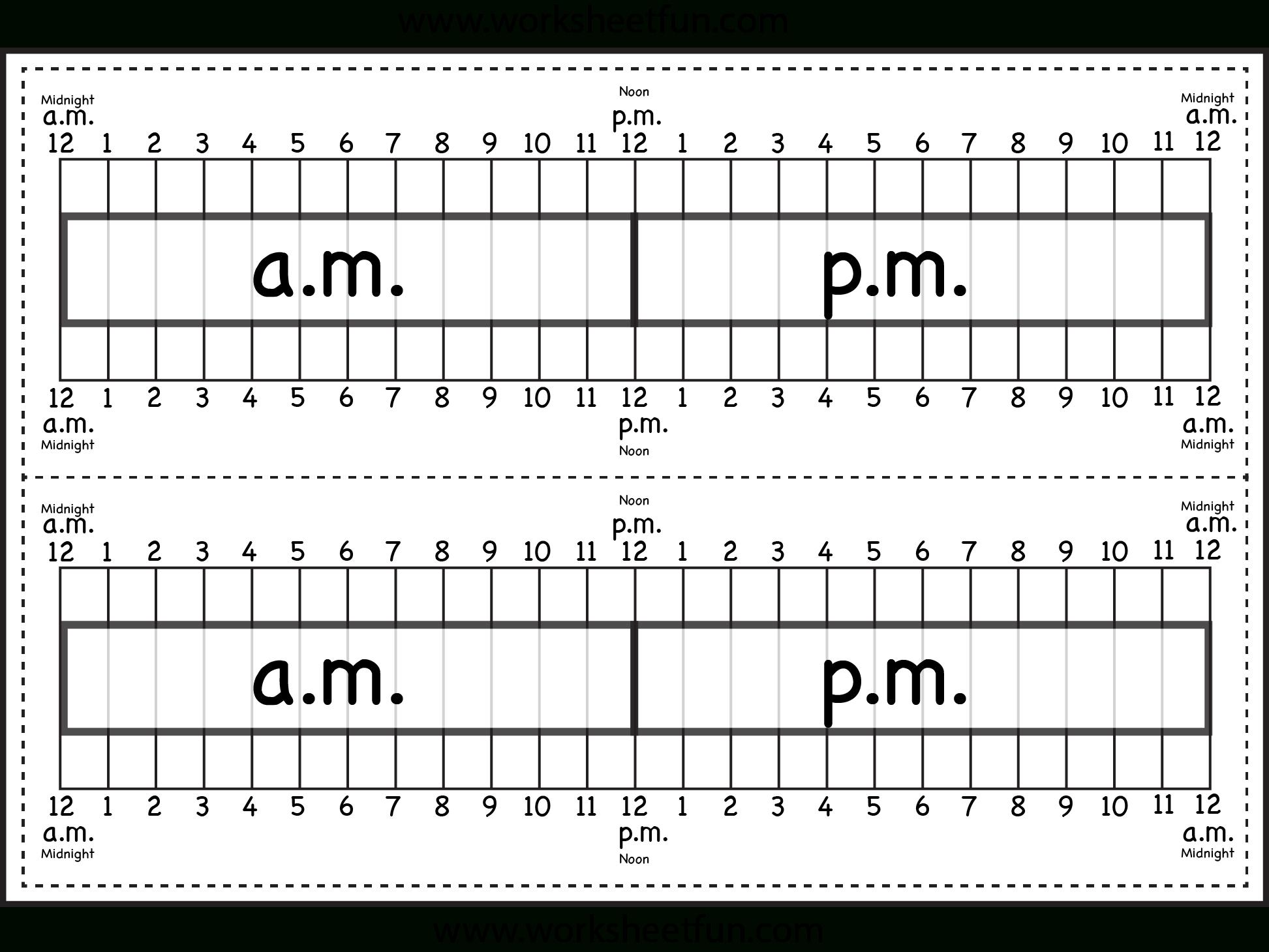 Elapsed Time Ruler Worksheet – 2 Rulers On 1 Worksheet