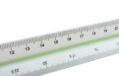 Engineer Metric Triangular Scale Ruler With Multiple Scale