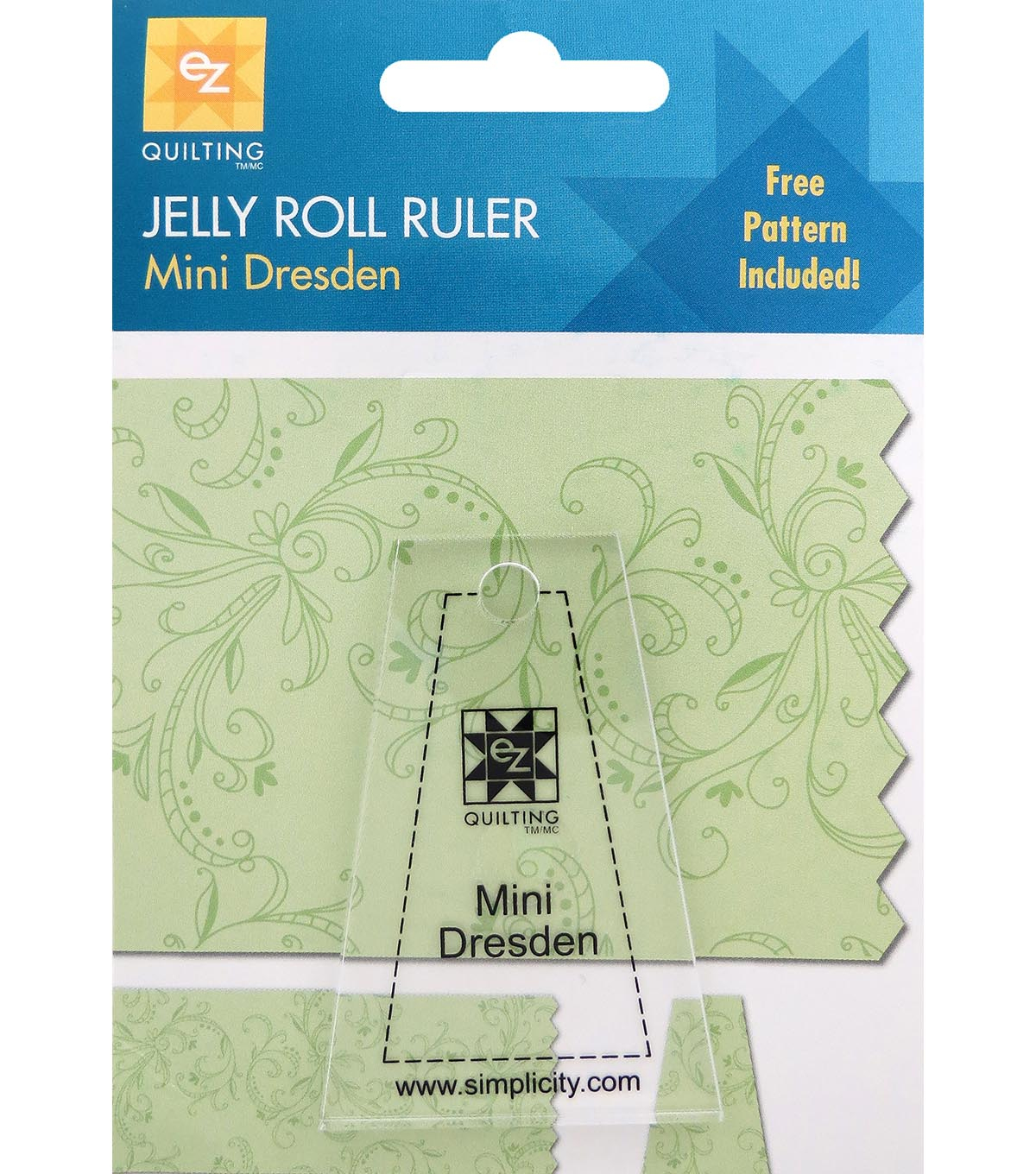 Ez Quilting Mini Dresden Jelly Roll Ruler