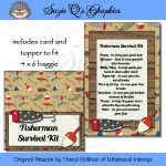 Fisherman Survival Kit   Digital Printable   Immediate