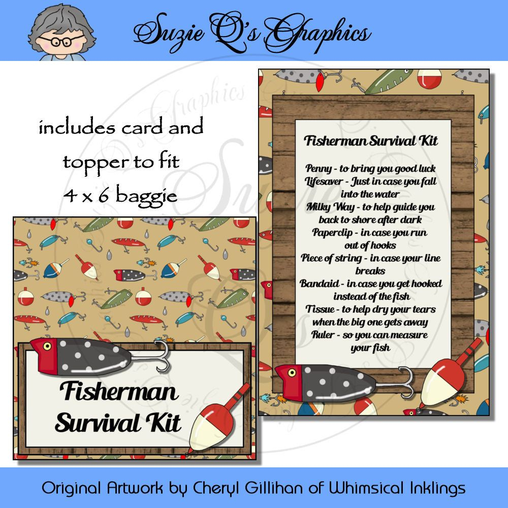 Fisherman Survival Kit - Digital Printable - Immediate