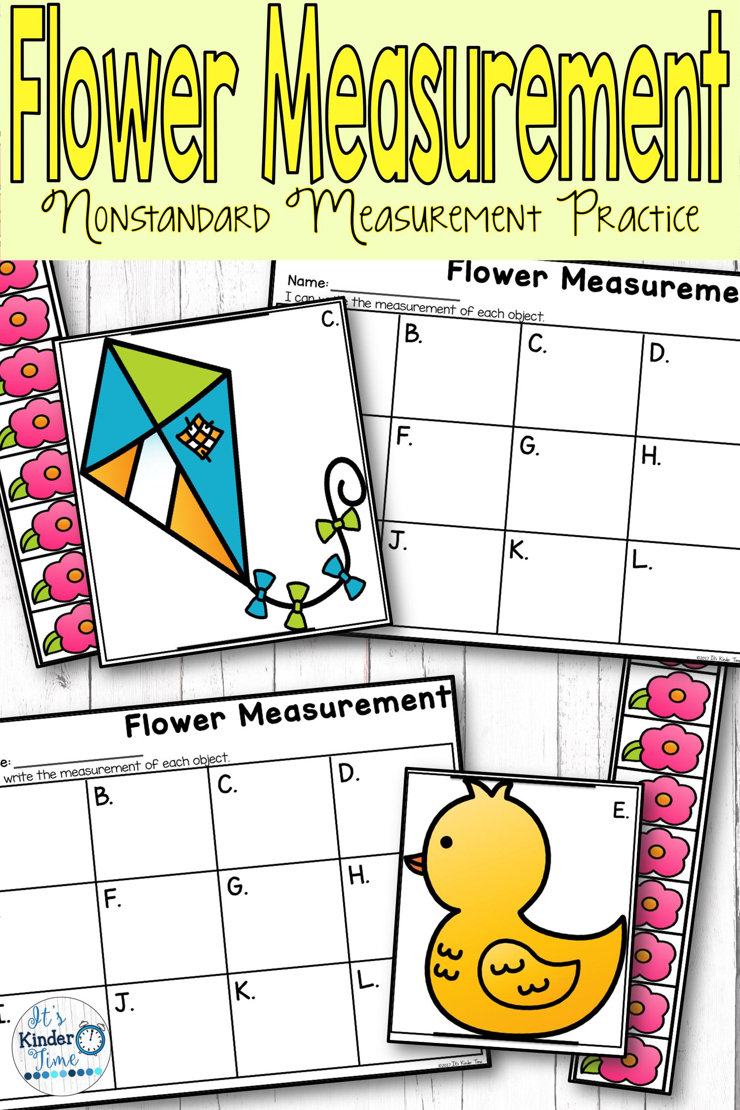 Flower Measurement - Nonstandard Measurement Practice