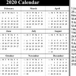 Free Calendar Printable Template