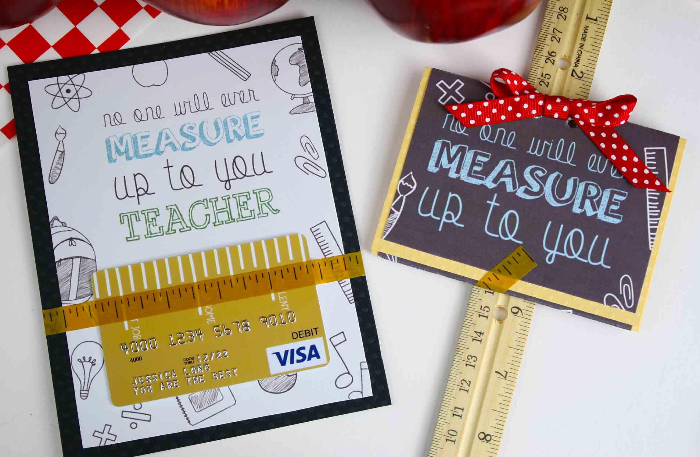 Free Gift Card Holder - Teacher Appreciation Gift Card