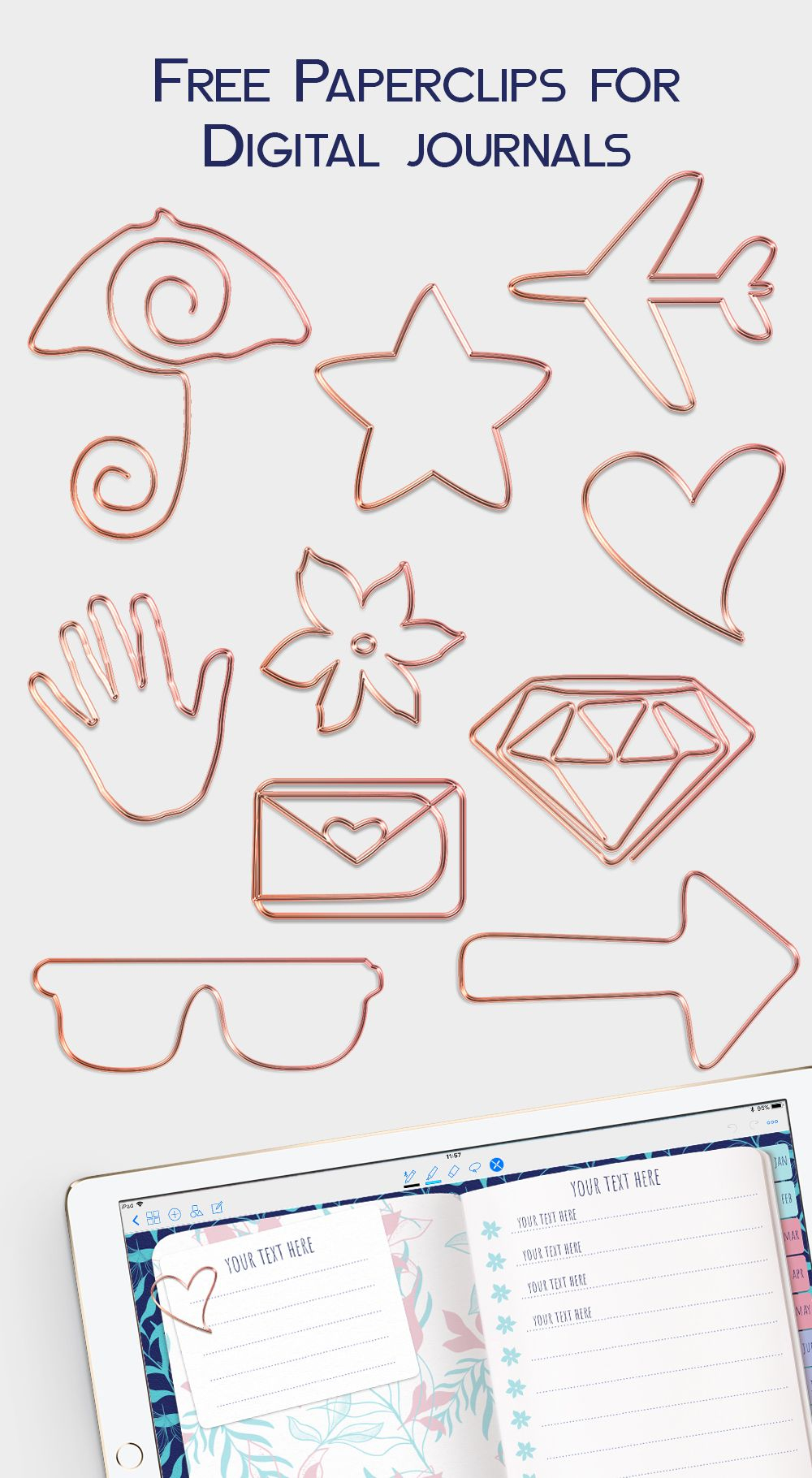 Free Paperclips For Digital Journals And Planners