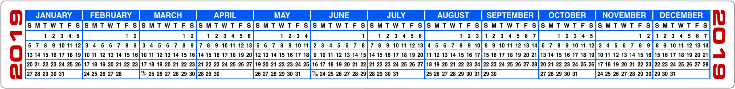 Free Printable 2020 Calendars & 2020 Calendar Strips