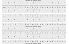 Labeled Ruler Printable
