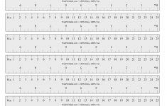 Printable Inches Ruler Pdf