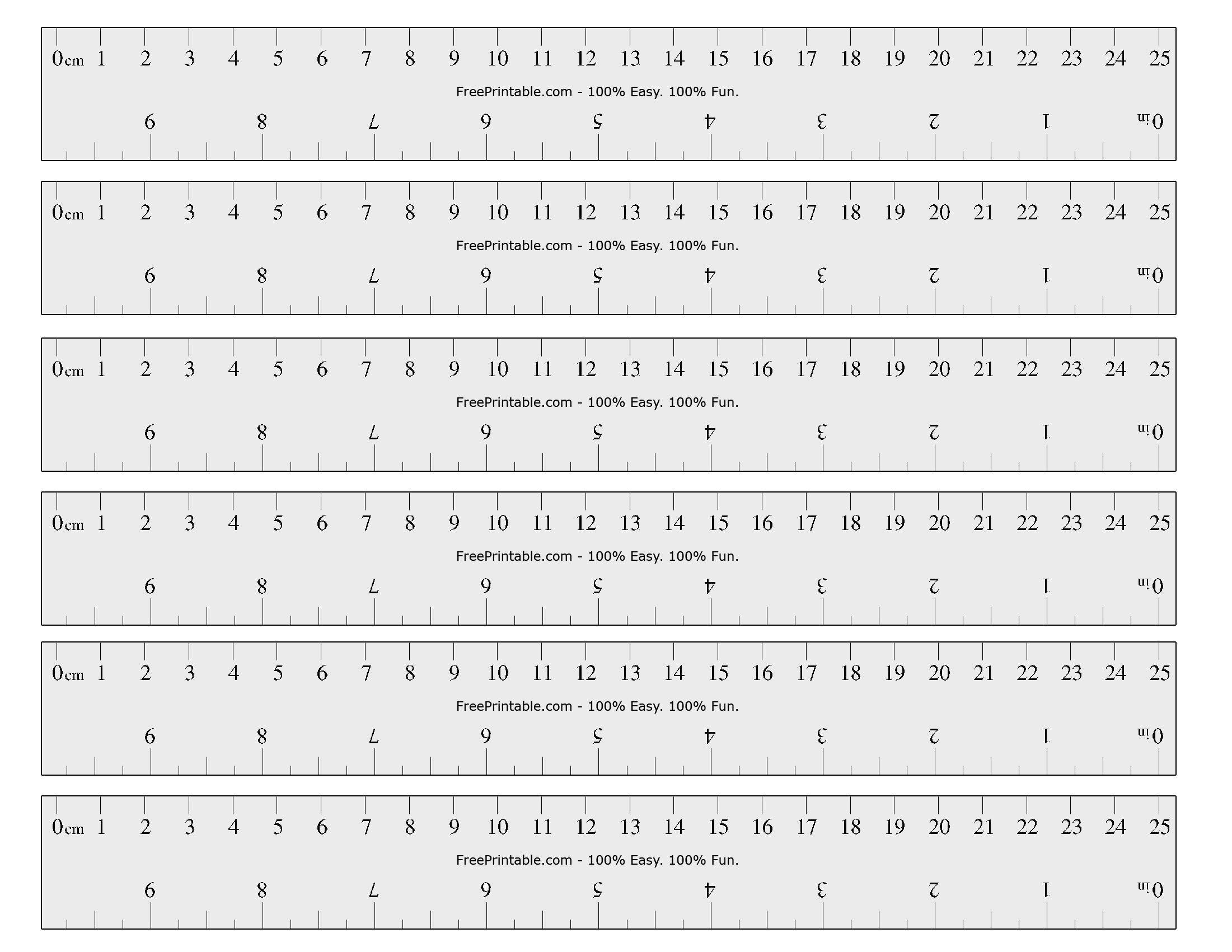 Free Printable Cm/inch Ruler | Printable Ruler, Printable