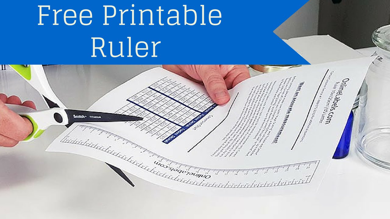 Free Printable Ruler - How To Measure Jar, Bottles And More!