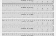 Printable Ruler Inch and Cm