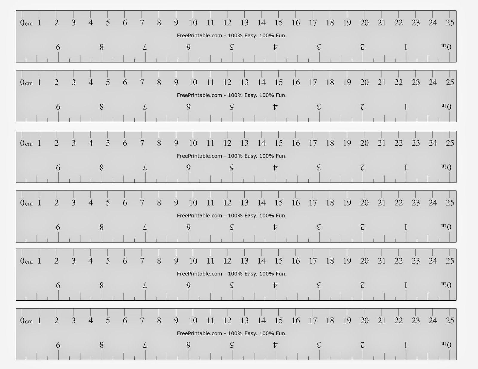 Free Printable Ruler | Printable Ruler, Printable Cards