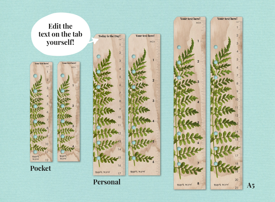 Free Today-Ruler With Your Own Text • Bigrell Design
