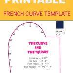 French Curve Printable Template   Naaipatronen, Patronen En