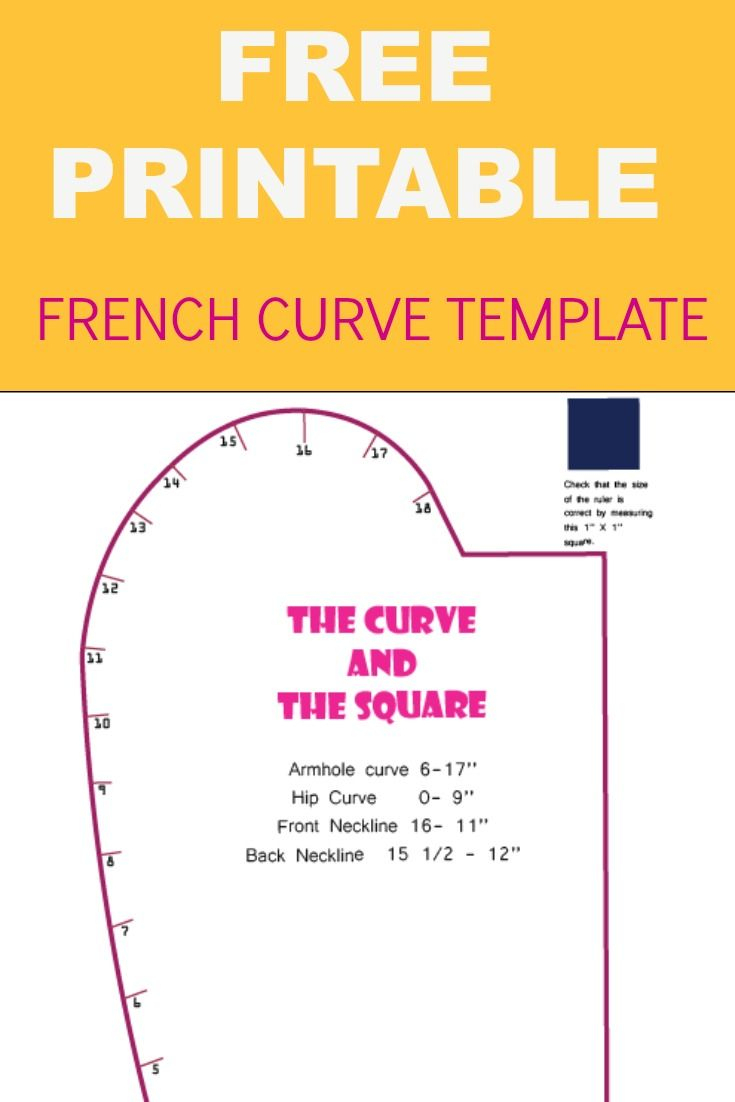 French Curve Printable Template | Sewing Patterns Free, Diy