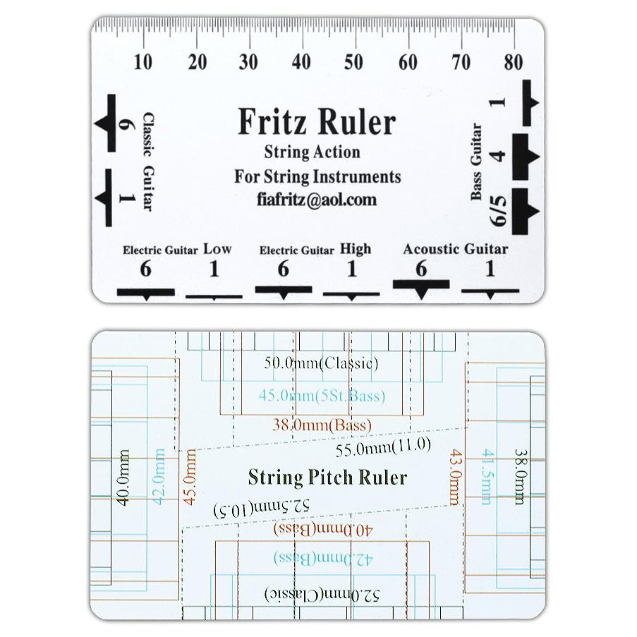 Fritz Ruler Action Gauge String Pitch Ruler Senar Gitar - White -  Jakartanotebook